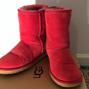 Hot pink UGG boots for women